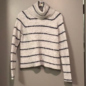 Madewell Stripe Turtleneck Wool Sweater